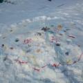 Зимние краски. Рисунки на снегу.