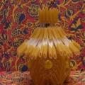 «Домик» из макаронин на пластиковой основе