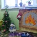 «Огонёк горит в камине…» Оформление уголка для девочек к новогоднему празднику