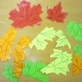 Дидактическая игра «Осенние листочки». Игра для детей 3–4 лет.