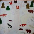 Конспект НОД по художественному творчеству (силуэтная аппликация) в подготовительной группе «Обитатели леса»