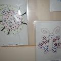 Выставка детских работ. Вышивка по картону.
