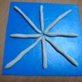 Лепка «Снежинка» с использованием пайеток