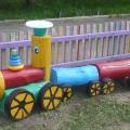 Летнее оформление участка детского сада