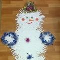 «Снеговик»— объявление для родителей.