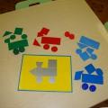 Дидактическая игра «В гости на веселом паровозике»