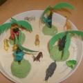 Коллективная работа «В стране обезьян» по лексической теме «Животные жарких стран» (подготовительная группа для детей с ЗПР)