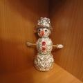 «Снеговик» из фольги. Мастер-класс.