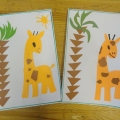 «Весёлый жираф»— аппликация