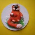 «Рыжий кот». Поделка из соленого теста