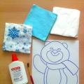 Нетрадиционная техника в аппликации, как средство развития творчества детей. «Олимпийский Мишка из бумажных салфеток»