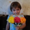 Розы из гофрированной (креповой) бумаги.