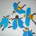 Конструирование из картона: «Пчелка»