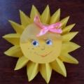 «Солнышко для мамочки» (мастер-класс по изготовленю сувенира к празднику День матери)