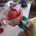 Розы из ватных дисков для любимой мамочки