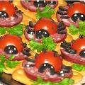 Аппетитные бутербродики «Божьи коровки»