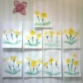 «Одуванчики» (рисунки детей 2–2,5 л)
