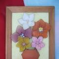 Композиция «Капроновые цветы в вазе»