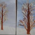 Рисование. Тема: «Иней покрыл деревья»