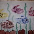 Рыбки-ладошки. Коллективный рисунок