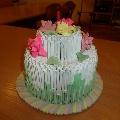 Торт из бумаги (модульное оригами).