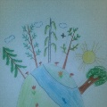 Непосредственная образовательная деятельность по рисованию в старшей группе. Тема: «Лесные тропинки»