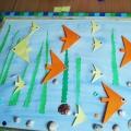 Морская картина в технике оригами