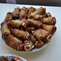 Мини-рулетики из баклажанов
