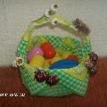 Корзинка с яйцами.