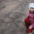 Рисование на песке.