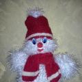 Новогодняя поделка «Снеговичок»