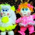Рыжая Наташка и белокурая Дашка. Текстильные куклёны.