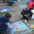 Конкурс рисунка на асфальте «Мирное детство— счастливое детство»