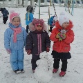 Парад снеговиков.