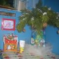 Новогодние оформление коридора в детском саду