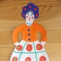 «Барышня»— украшение дымковской игрушки