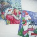 «Поцелуй Снеговика» (вышивание и декупаж)