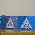 Новогодняя поздравительная открытка «Белоснежная ёлочка»