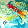 «Полечу я на Луну». Рисунки детей