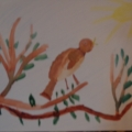 Детская работа «Весеннее пробуждение»