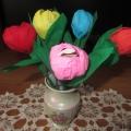 Мастер-класс «Букет цветов с сюрпризом»