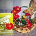 Мое хобби «Букет из конфет и открытка «Красные маки» в подарок подруге»