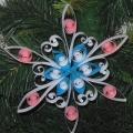 МК «Новогодняя снежинка» в технике «Квиллинг»