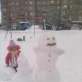 Весенний привет от снеговика «Веснульки»