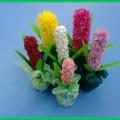 Гиацинт в подарок любимой мамочке!!! (мастер-класс по изготовлению цветка из бумаги)