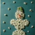 Аппликация из салфеток «Снеговик»
