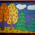 Кружковая работа на тему: «Осенний лес»