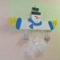 Мобиль для снежинок «Снеговик»