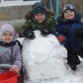 Выпал первый беленький снежок. Прогулка моей группы