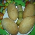Пирожки постные с солёными огурцами.